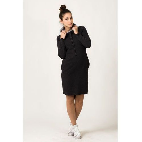 a85cdc2673 ... Dresowa dwukolorowa sukienka z golfem kaja ciemnoszara marki Tessita -  Galeria Dresowa dwukolorowa sukienka z golfem ...