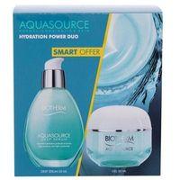 Biotherm Aquasource Hydration Power Duo zestaw Żel do twarzy Aquasource Gel 50 ml + Serum do twarzy Aquasource Deep Serum 50 ml dla kobiet