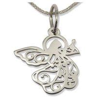 Wisiorek z białego złota aniołek wec-b-wis-aniołek-40 marki Węc - twój jubiler