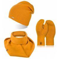 Brodrene trzyczęściowy komplet zimowy czapka komin rękawiczki damskie