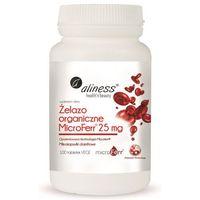 Tabletki Żelazo organiczne MicroFerr 25 mg x 100 tab. vege Aliness