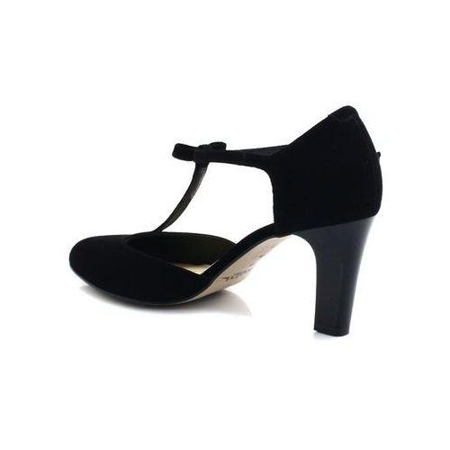 f662e000f297f5 889 czarny zamsz - piękne buty taneczne ze skóry - czarny marki Kotyl -  zdjęcie