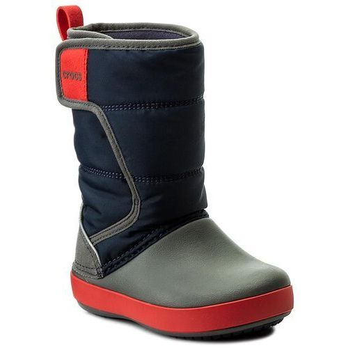 Śniegowce CROCS - Lodgepoint Snow Boot K 204660 Navy/Slate Grey