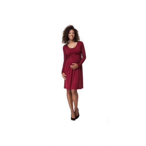 Sukienka Ciążowa Elegant Burgund 5O35LH