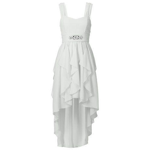 Sukienka biel wełny Bonprix