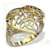Pierścionek w kształcie ażurowego serca wykonany z żółtego złota LP-31Z-R