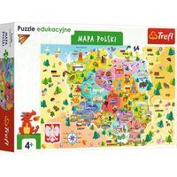 Trefl 15556 Puzzle edukacyjne 54 Mapa Polski