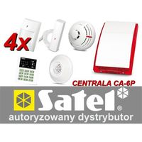 Alarm Satel CA-6 LED, 4xTopaz, FD-1, DG-1 CO, TSD-1, syg. zew. SP-4003