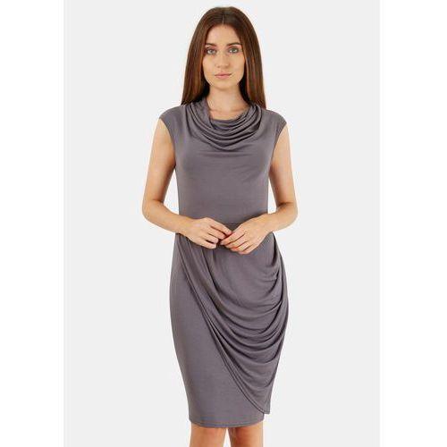 Closet London damska sukienka 38 szary, kolor szary