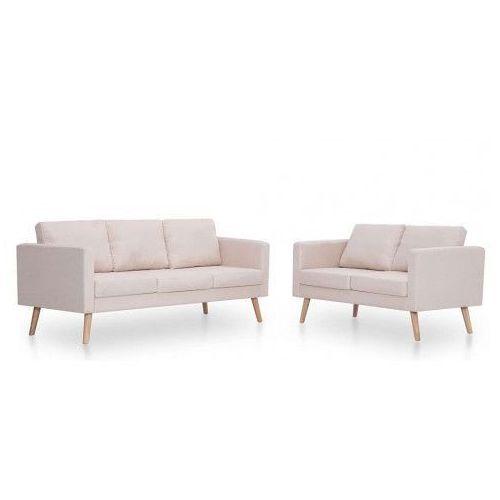 Komplet 2 sof wypoczynkowych Bailey - Kremowy