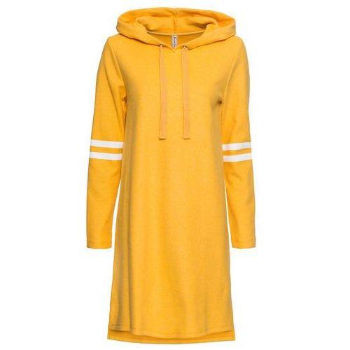 Sukienka bonprix brązowo-kolorowy, kolor żółty