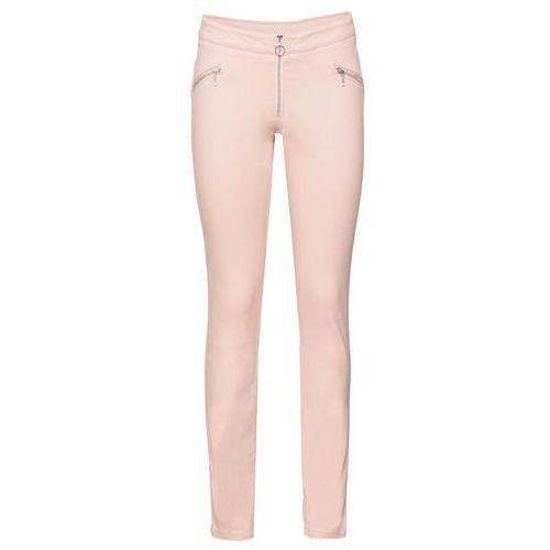 Bonprix Spodnie z paskiem w prążek brzoskwiniowy
