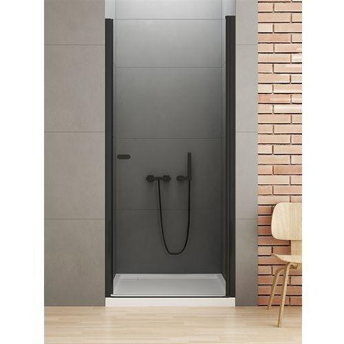 New Trendy New Soleo Black drzwi wnękowe 100 cm wys. 195 cm, szkło czyste 6 mm D-0212A, D-0212A