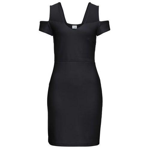 Sukienka z odkrytymi ramionami bonprix czarny