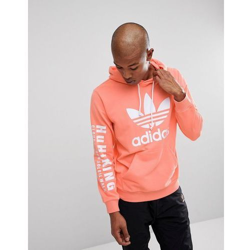 0445ba5fa2925 x pharrell williams hu hiking hoodie with arm print in pink cy7875 - pink
