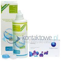 Soczewki biofinity 3 szt. + evo2lution soft 360 ml marki Coopervision