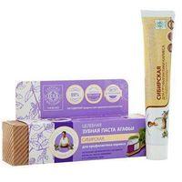Babuszka i 75ml organiczna pasta do zębów - syberyjska - zapobiega próchnicy marki Agafi