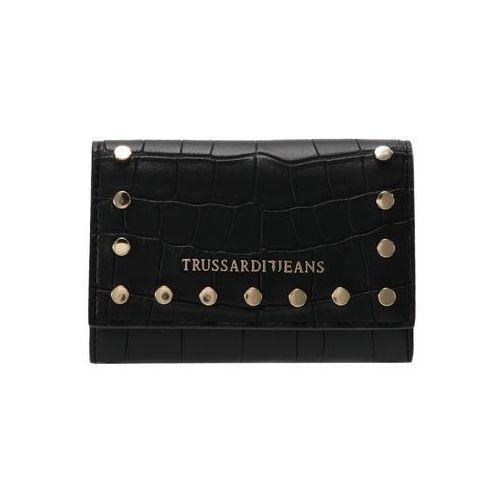 Trussardi Jeans ACACIA COCCO MEDIUM WALLET Portfel black, 75W00066 9Y099999