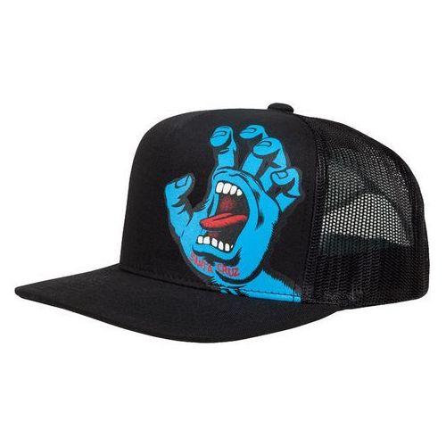 czapka z daszkiem SANTA CRUZ - Youth Screaming Hand Cap Black (BLACK), kolor czarny