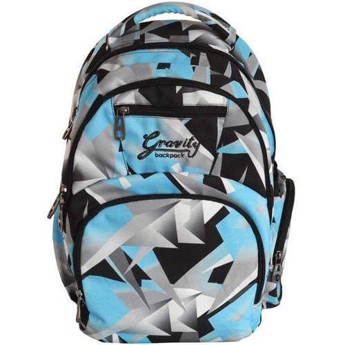 Plecak dwukomorowy Niebieski Geometryczny (5908293559241)