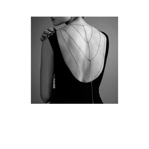 Bijoux indiscrets - magnifique back & cleavage chain (srebrny) marki Bijoux indiscrets (sp)