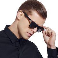 Okulary przeciwsłoneczne tr90 polaryzacyjne męskie - matte blue/gray