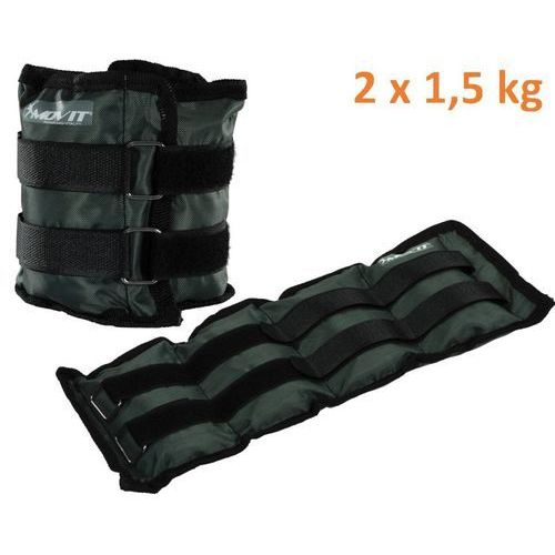 Obciążniki MOVIT na ręce i nogi do ćwiczeń 2 x 1,5 kg szare