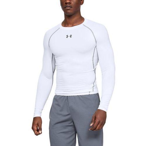 Under Armour Koszulka z długim rękawem UA HeatGear Armour Biała - Biały