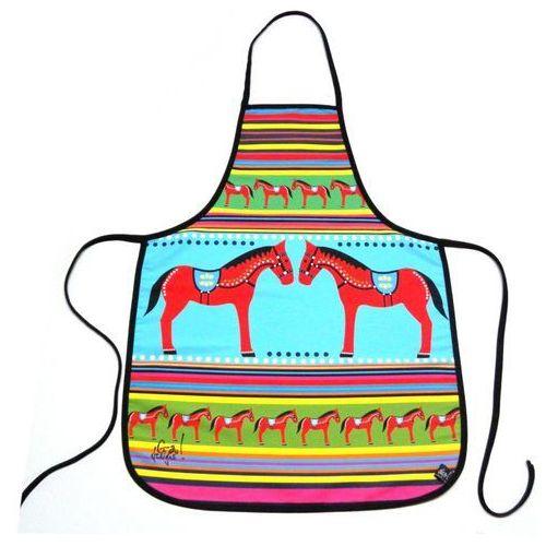 Fartuszek kuchenny z nadrukiem ludowym  koniki zabawka ludowa 3 marki Pracownia artystyczna