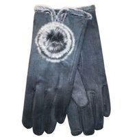 Rękawiczki YO! R-146 Zamszowe ROZMIAR: 23 cm, KOLOR: wielokolorowy, YO!