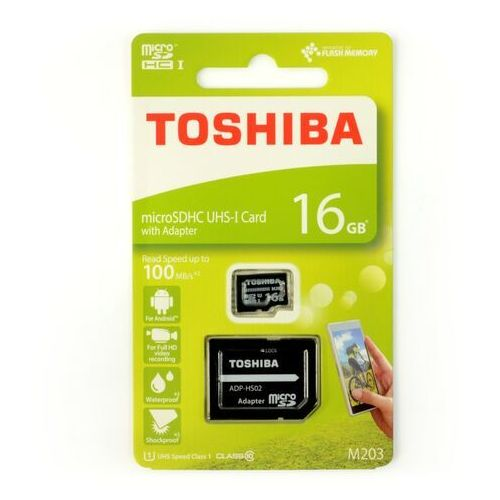 Karta pamięci z adapterem MicroSDXC Toshiba 16GB Class 10 THN-M203K0160EA, 1_625231