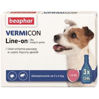 Beaphar Vermicon Line-On krople dla psów do 15kg 3x1.5ml