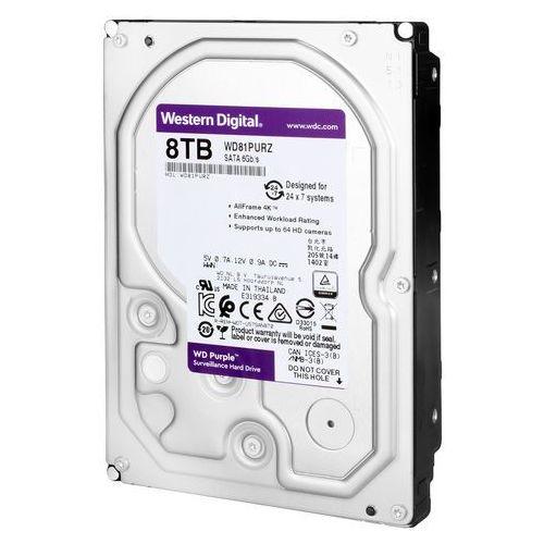 Dysk twardy do rejestratorów cyfrowych WD Purple 8TB (0718037856094)