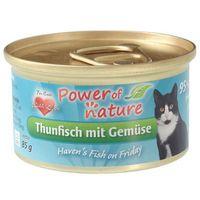 tuńczyk z warzywami karma dla kotów puszka 85g marki Power of nature