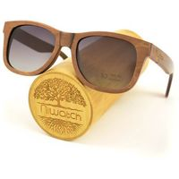 Drewniane okulary przeciwsłoneczne Niwatch Indus Grey