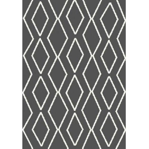 Dywan Shaggy Eco Komfort Mila 120x170 Ciemny Szary Biały Romby Krata Myretail