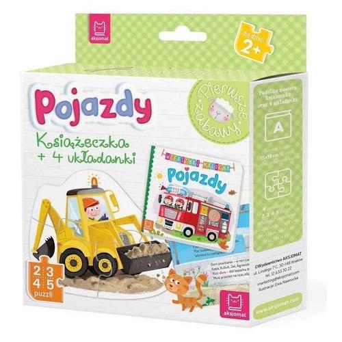Pojazdy książeczka i cztery układanki puzzle dla malucha - praca zbiorowa marki Aksjomat