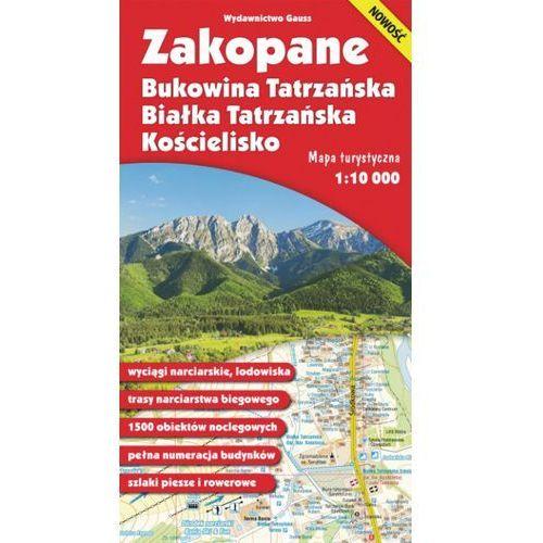 Zakopane, Bukowina Tatrzańska Białka Tatrzańska i Kościelisko – mapa (skala 1:10 000) - Opracowanie zbiorowe