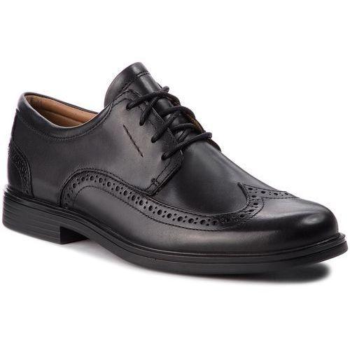 Półbuty CLARKS - Un Aldric Wing 261325977 Black Leather, kolor czarny