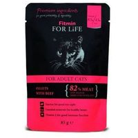 Fitmin cat for life adult beef 12x85g (8595237015160)