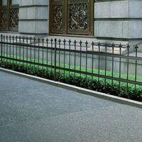 Vidaxl ogrodzenie palisadowe ze stali, szpiczaste zakończenie czarne 80 cm (8718475879473)