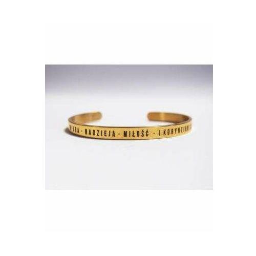 Bransoletka złota - wiara nadzieja miłość (5902574163882)