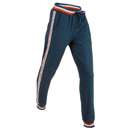 Bonprix Spodnie dresowe, długie, level 1 ciemnoniebieski melanż