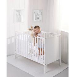 łóżeczko drewniane eko panel białe marki Troll nursery