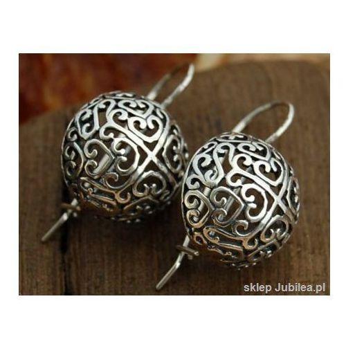 PÓŁKULE - srebrne kolczyki srebro 925, kolor szary