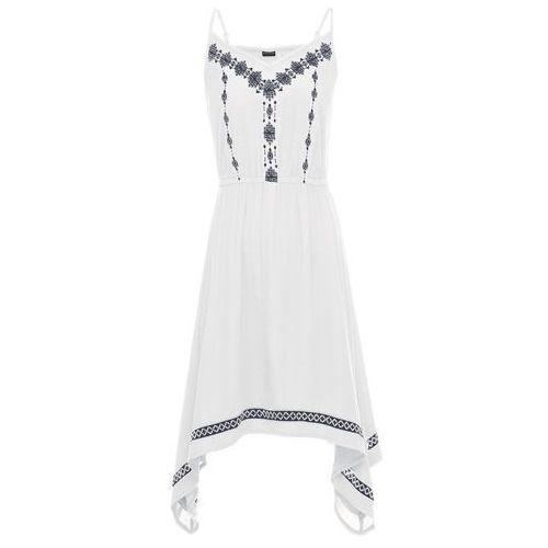 Sukienka z haftem: must have biały Bonprix