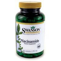 Swanson Niacyna (Niacinamide) 250 mg 250 kapsułek (0087614010496)