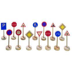 Drewniane znaki drogowe, zestaw do zabawy, wm 397 marki Goki