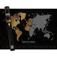 Mapa Zdrapka Świata Loft Black