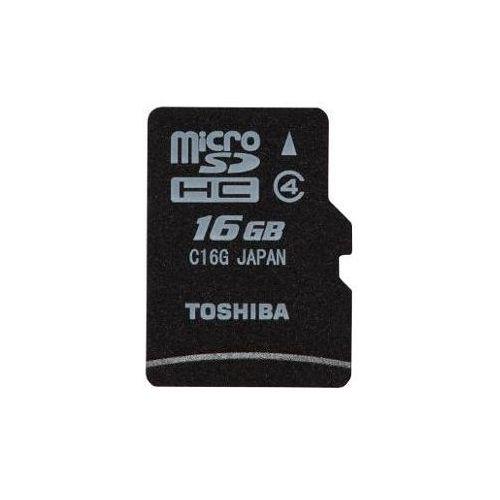 Karta micro secure digital high-capacity (microsdhc) microsd 16gb+adapter class 4 sd-c16gj(bl5a marki Toshiba